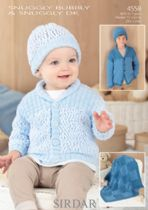 Sirdar Snuggly Bubbly - 4558 Cardigans, Hats and Blanket Knitting Pattern